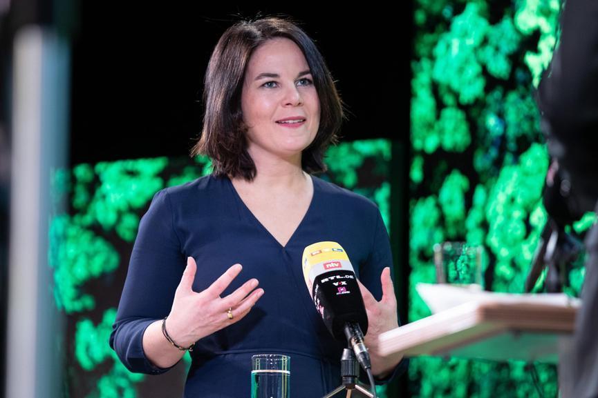 Annalena Baerbock, 40 anni, candidata per i Verdi alla Cancelleria tedesca (foto Ansa)