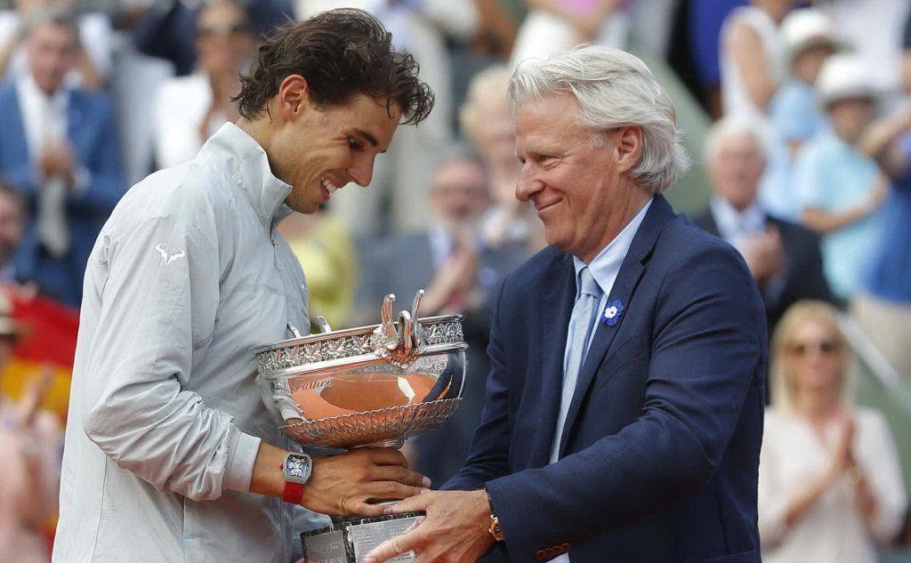 Con Nadal al Roland Garros nel 2014