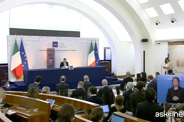 """Draghi: """"Lo scioglimento di Forza Nuova è all'attenzione di governo e magistrati"""""""