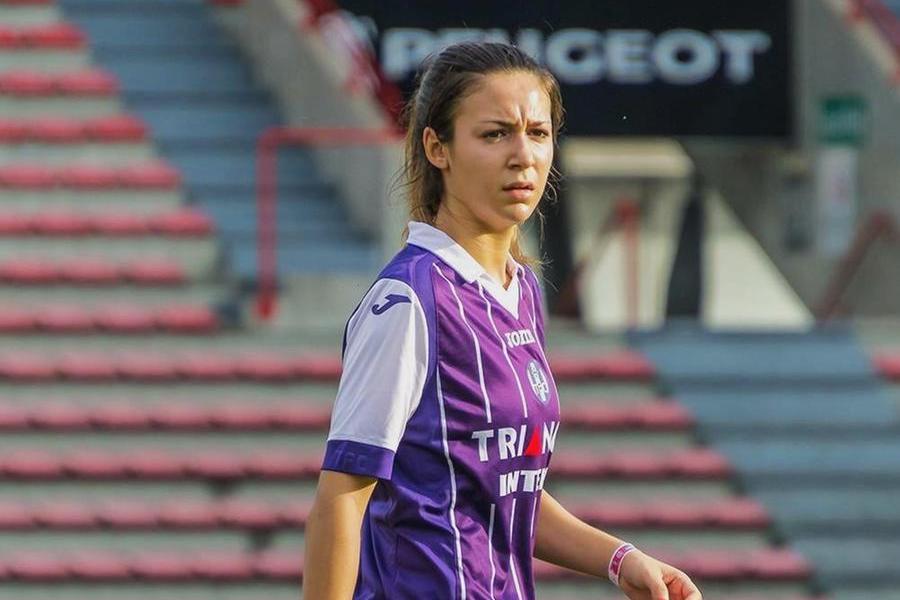La centrocampista offensiva francese Pauline Mehadji (foto Marras)