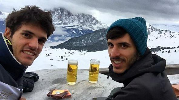 Stefano Oppo con il fratello Matteo