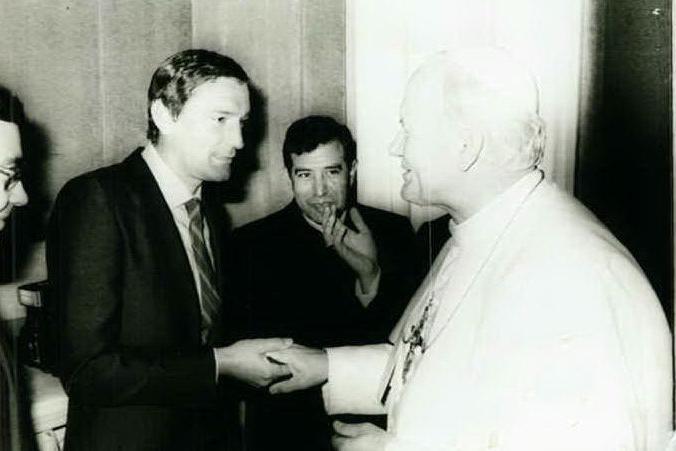 Il Cagliari da Papa Wojtyla