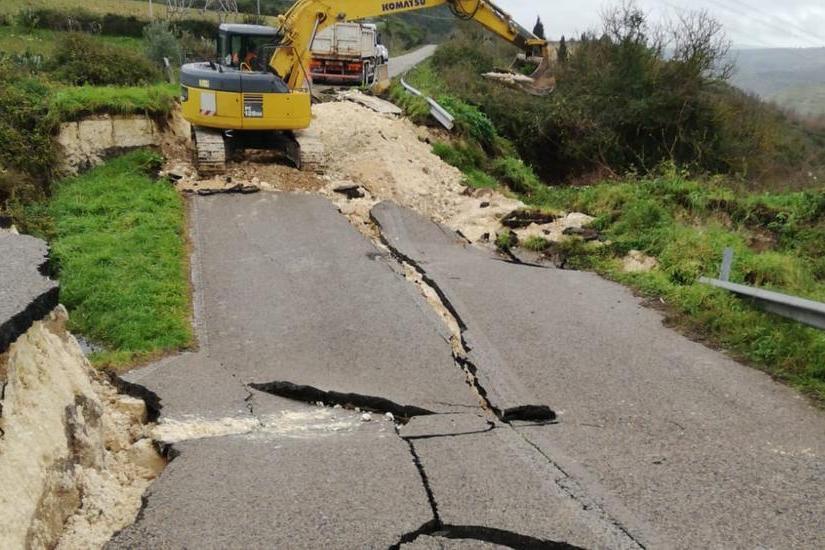 Ossi, 500mila europer ripristinare il tratto di strada della Sp97 crollato a gennaio