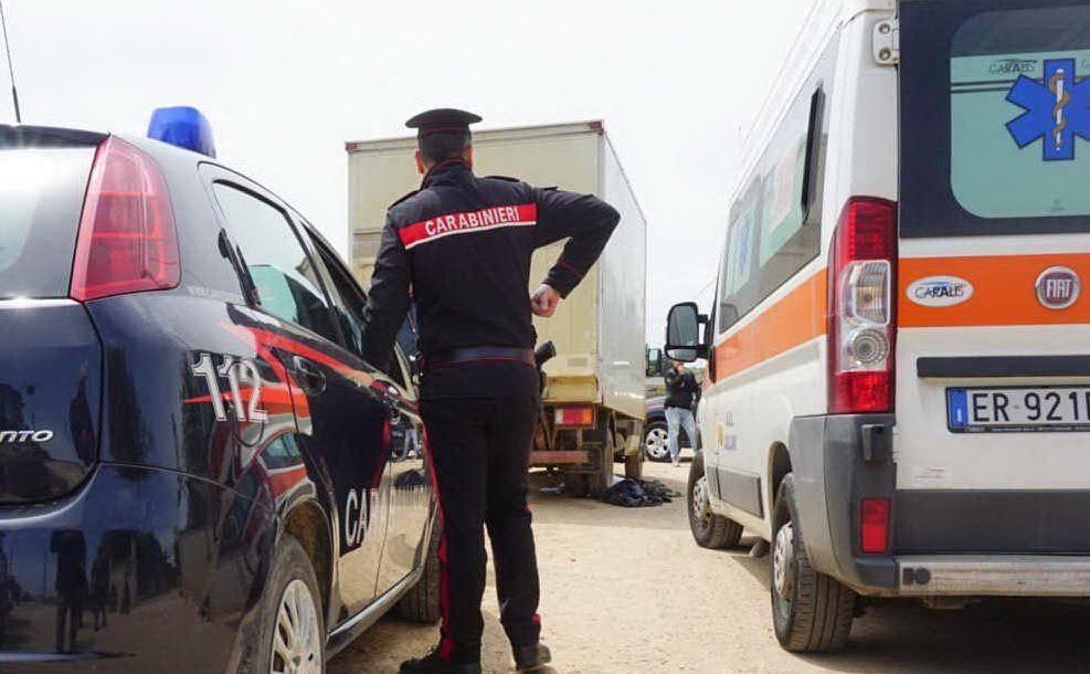 Incidente sul lavoro dalle conseguenze mortali a Sestu (foto L'Unione Sarda - Anedda)