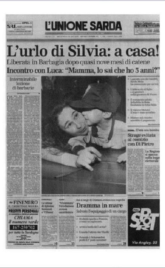 Il nostro giornale apre sulla liberazione di Silvia