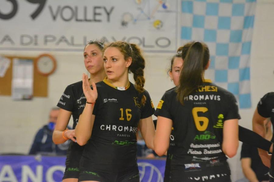 Un'immagine di Camilla Gerosa con la maglia dell'Offanengo, squadra da cui proviene (foto Hermaea Olbia)