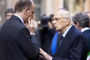 Letta e Napolitano - Foto d'archivio