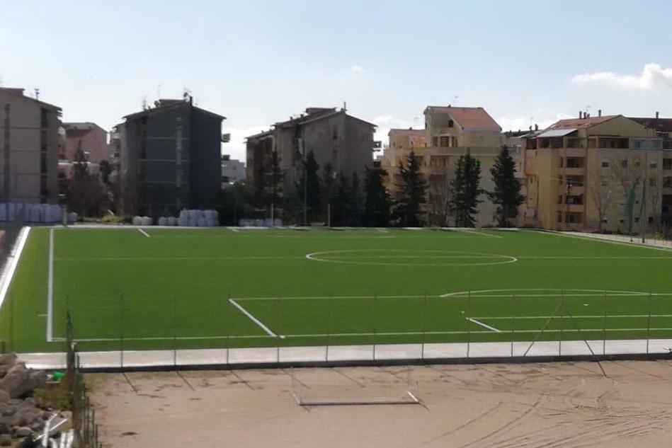 Il nuovo impianto sportivo di Monte Rosello a Sassari, prossimo all'inaugurazione (foto Tellini)