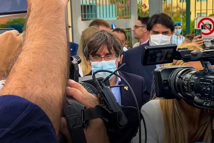 """Sassari, rilasciatoPuigdemont. Il 4 ottobre l'udienza per l'estradizione, """"ma è libero di andare"""""""