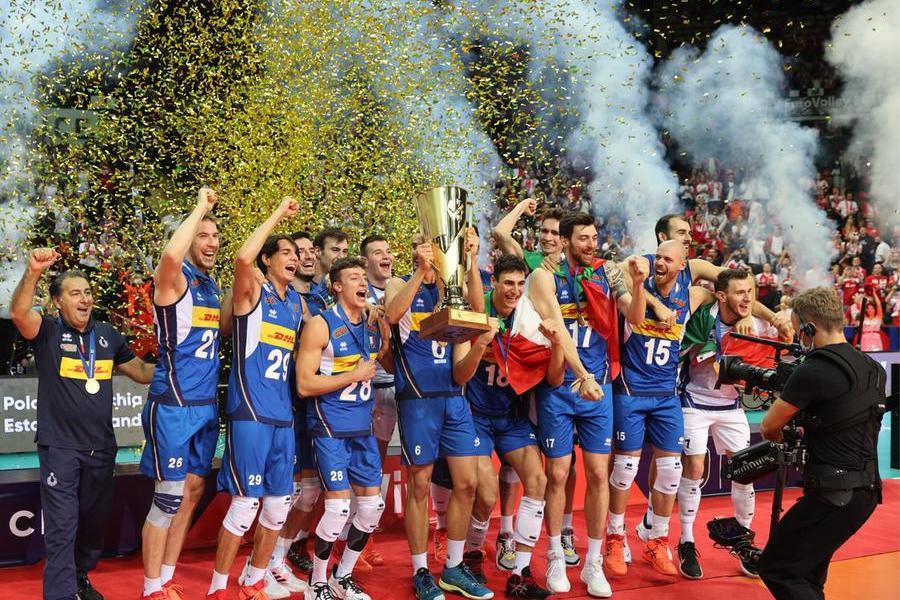 L'Italia del volley batte la Slovenia: gli azzurri sono d'oro