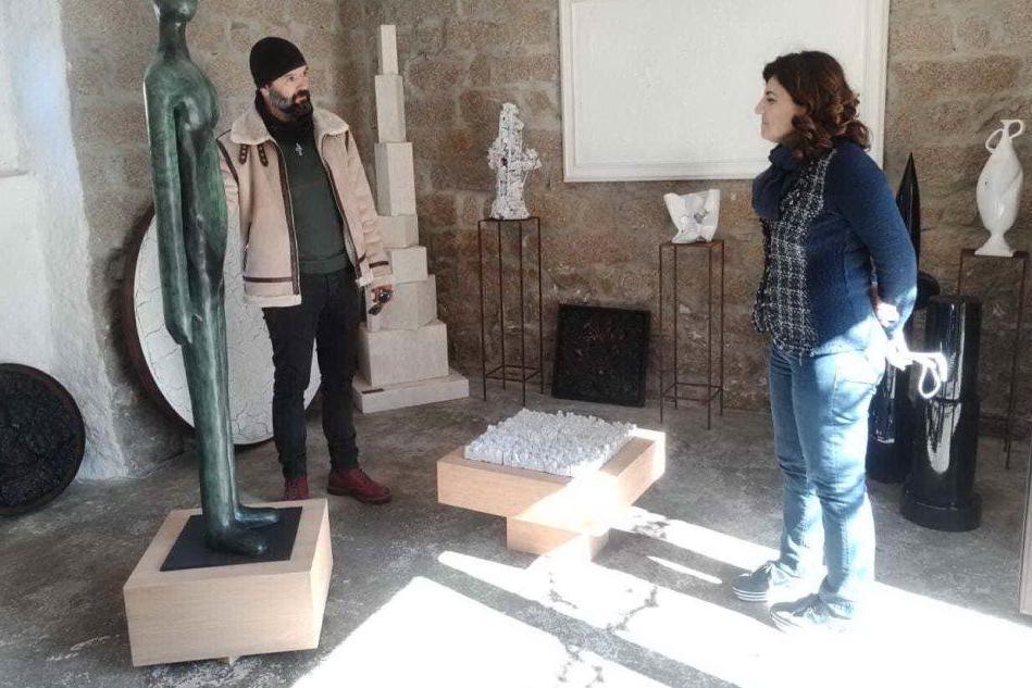 Nicola Filia e la direttrice del museo Silvia Oppo (foto Alessandra Raggio)