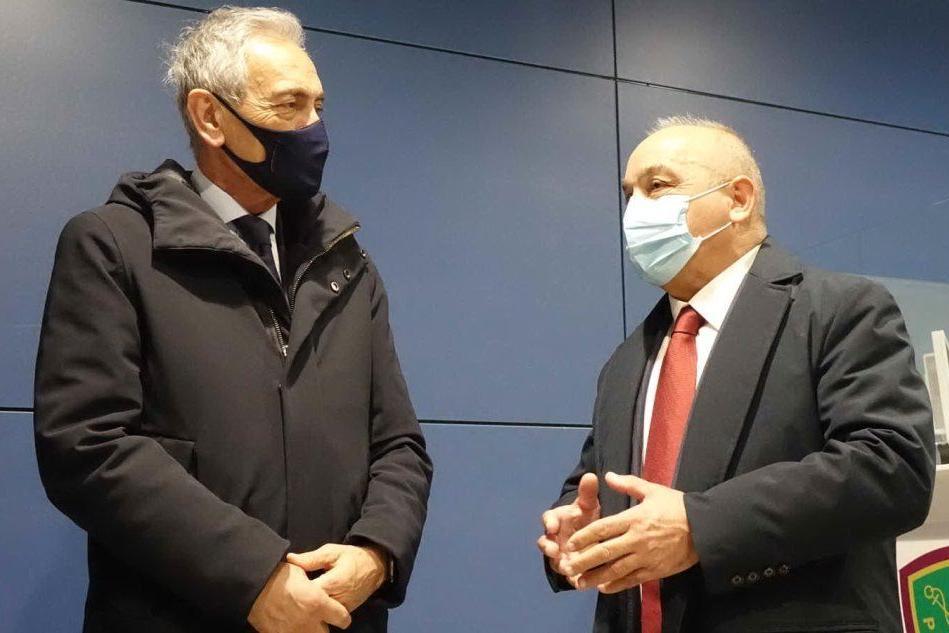 """Chessa incontra Gravina, capo della Figc: """"La promozione del turismo passa anche dallo Sport"""""""