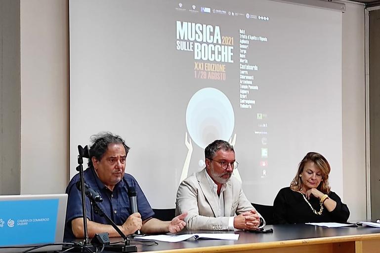 """La presentazione del festival \""""Musica sulle bocche\"""" (foto Marras)"""