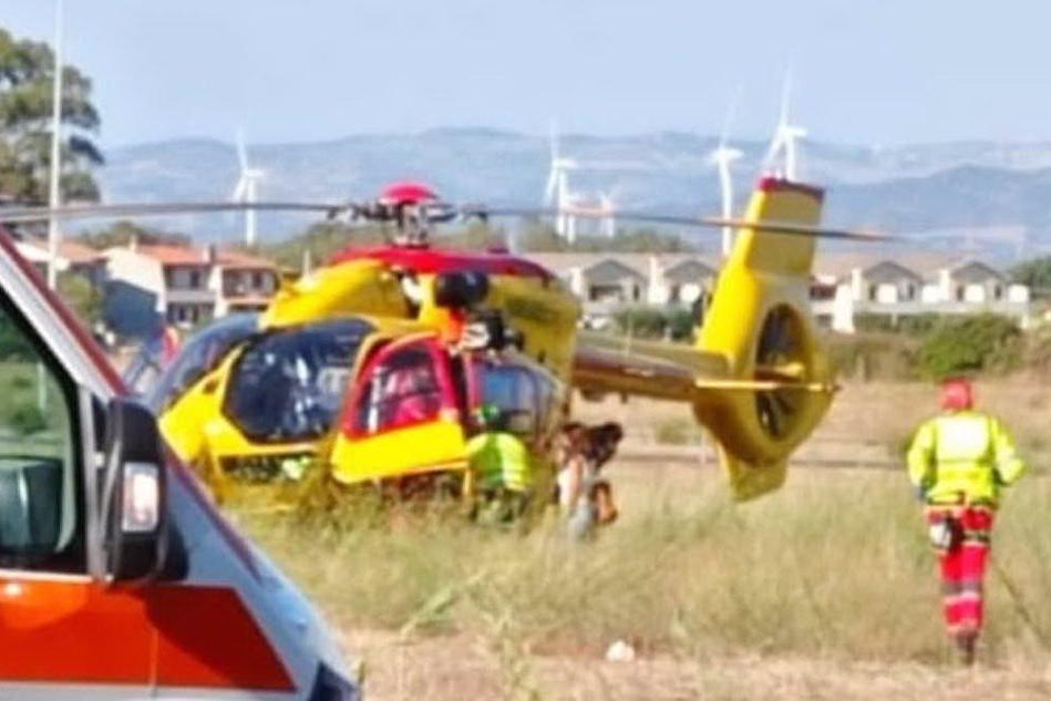 Brutta caduta per un bimbo a Guspini: interviene l'elisoccorso