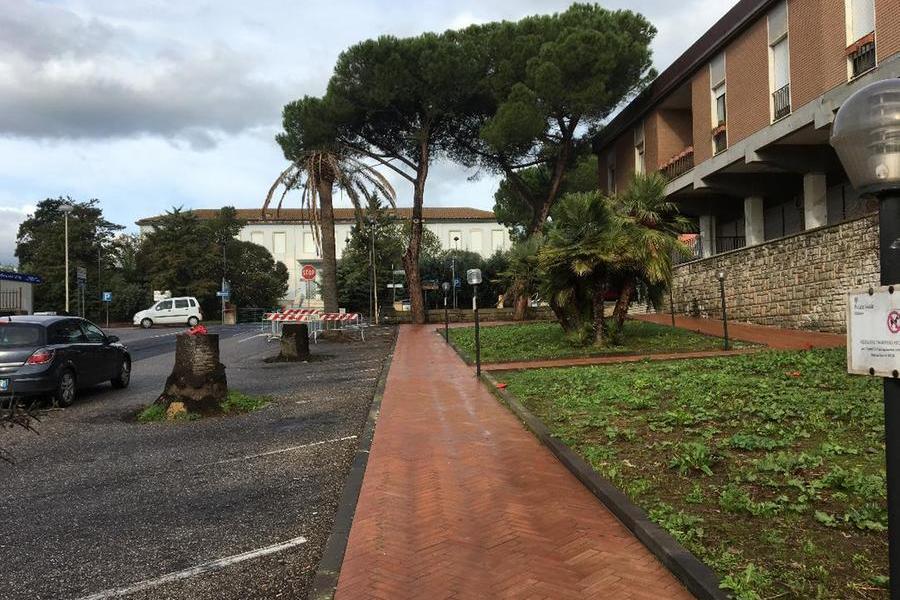I giardini vicino al Municipio (foto Orbana)