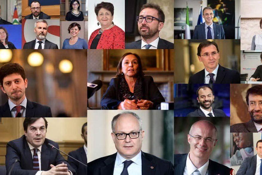 Tutti i volti del secondo governo Conte