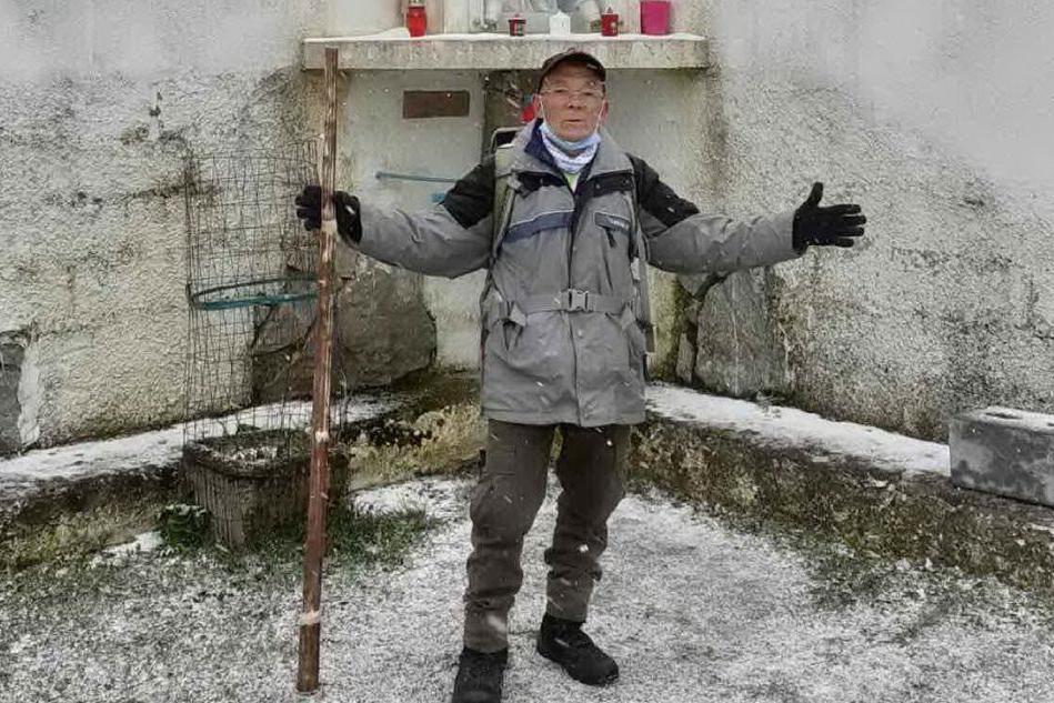 Zigheddu a 83 anni sfida anche la neve: sciolto il voto