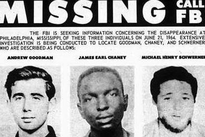 #AccaddeOggi: 21 giugno 1964, tre attivisti per i diritti degli afroamericani uccisi dal KKK