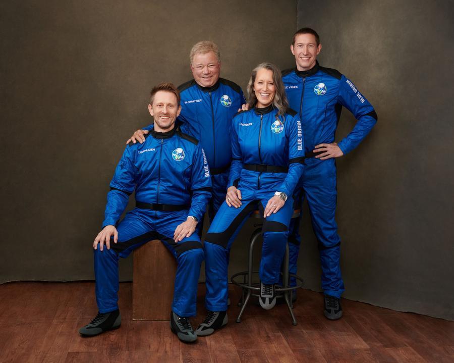 L'equipaggio della New Shepard (foto @BlueOrigin)