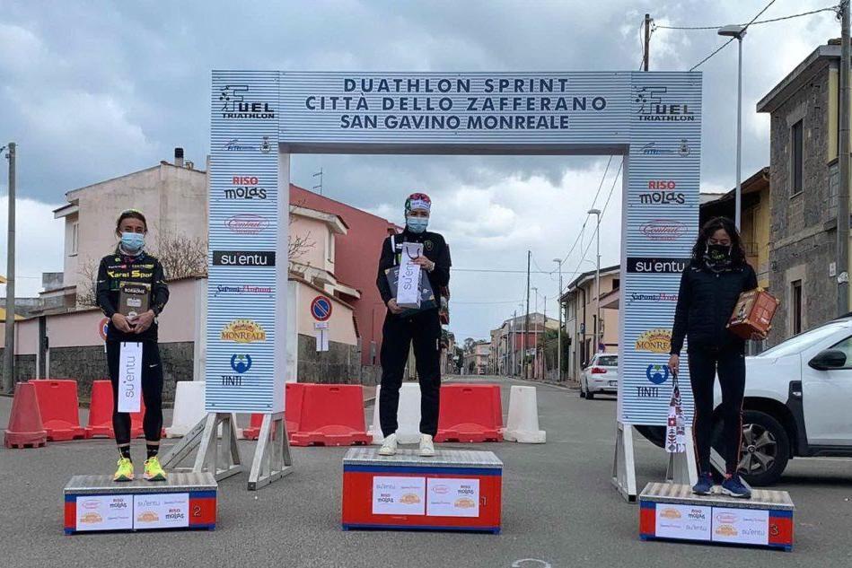 """San Gavino, duathlon """"Città dello zafferano"""": vincono Thijs e Capone"""
