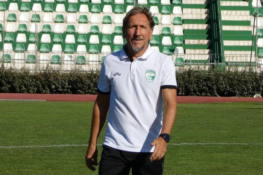 Marco Nappi, tecnico dell'Arzachena (foto concessa dall'Arzachena Calcio)
