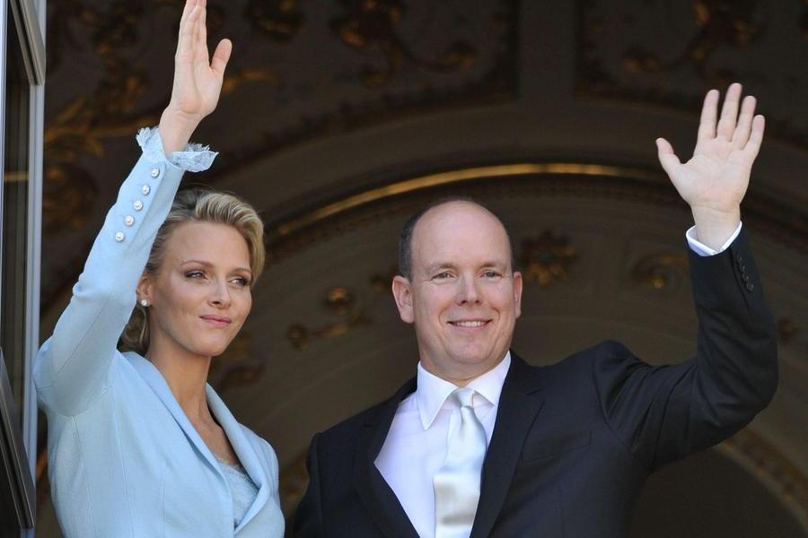 Il principe Alberto di Monaco e la principessa Charlene (Ansa-Epa)