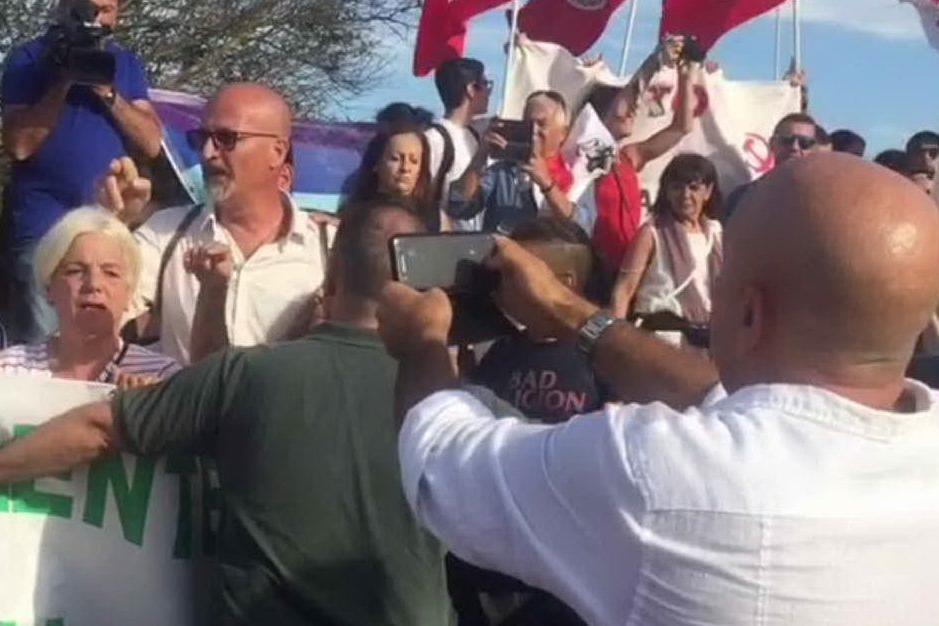Capo frasca, la protesta dei manifestanti