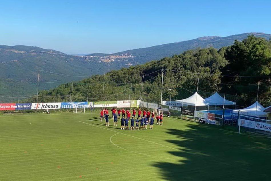 Aritzo, il Cagliari continua ad allenarsi in vista del campionato