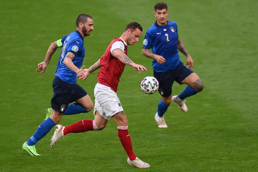 L'Italiain campo contro l'Austria: 2-1ai supplementari