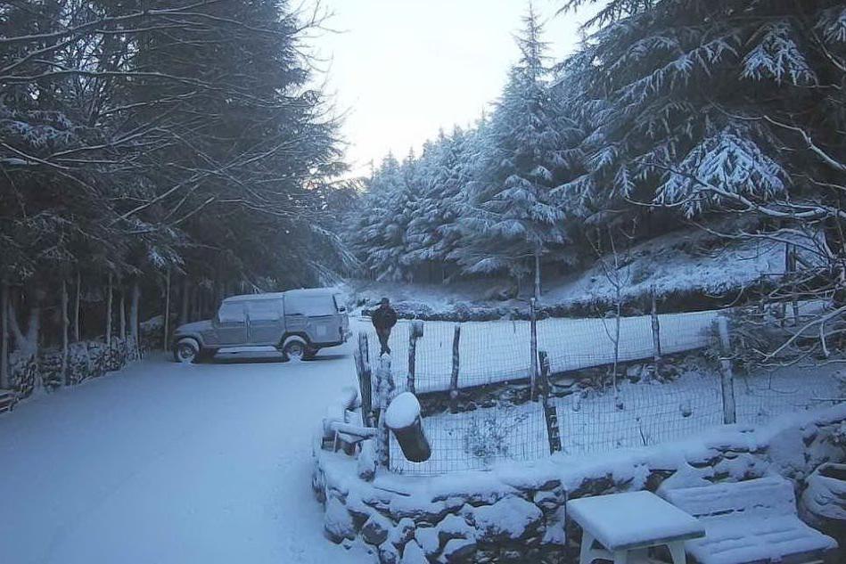 Neve sul Gennargentu: le immagini di Su Separadorgiu