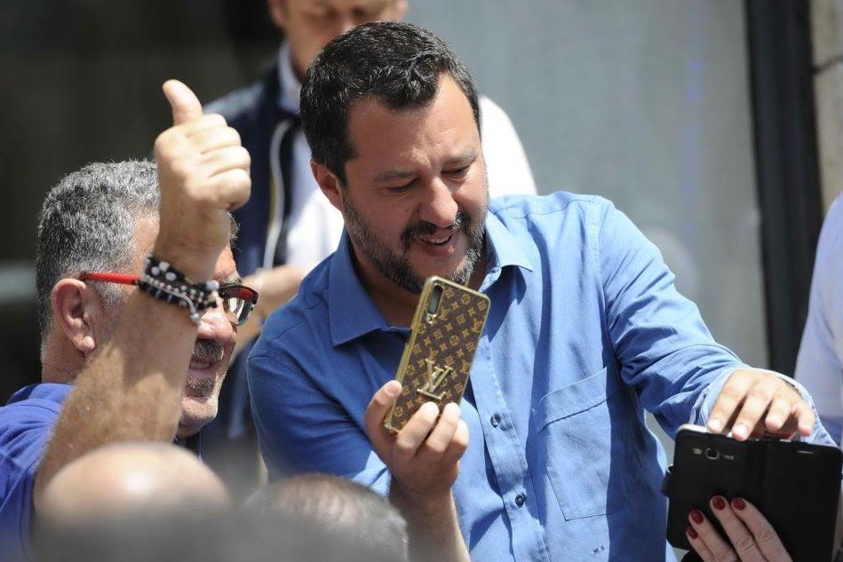 Il ministro oggi ad Ascoli Piceno per la campagna elettorale (Ansa)