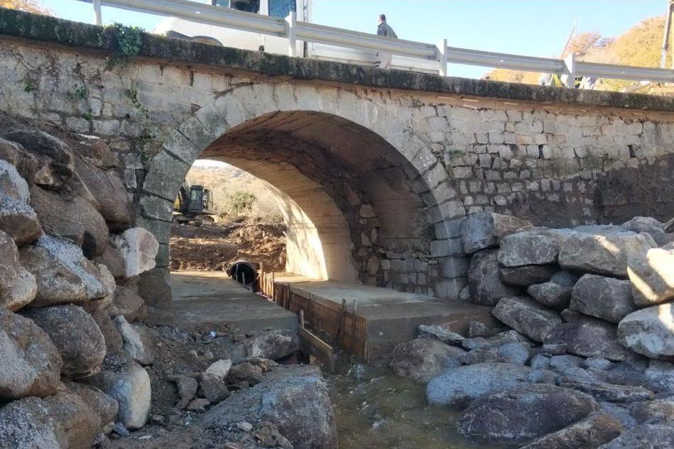 Il ponte rimesso in sicurezza (Foto Anas)