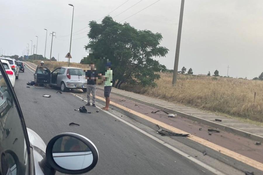 Il luogo dell'incidente (Foto Serreli)