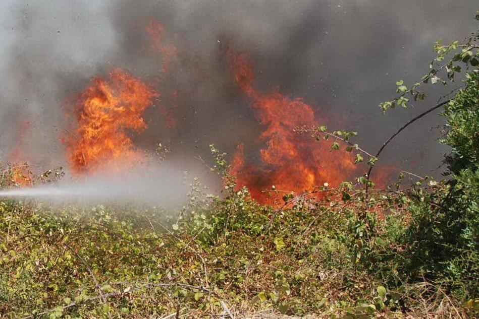 Arbus, un incendio ha distrutto macchia mediterranea