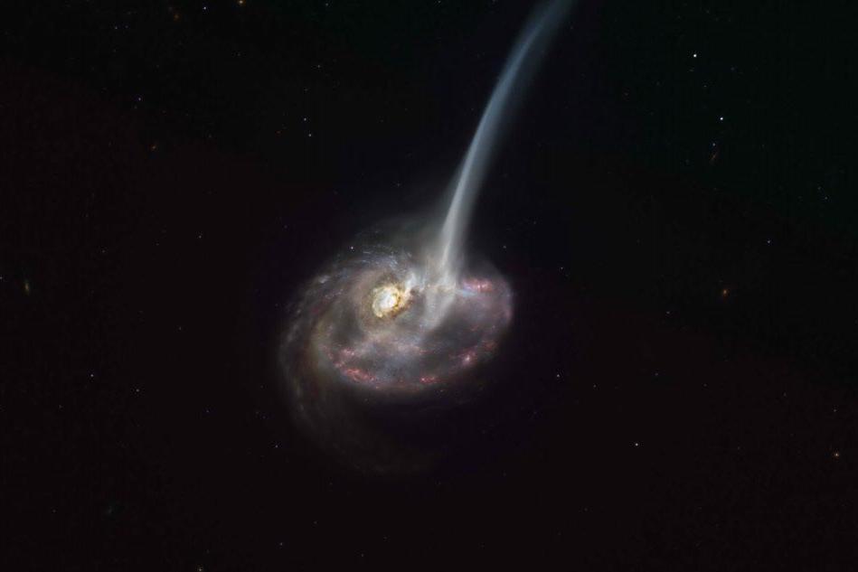 Osservata una galassia che si sta lentamente spegnendo