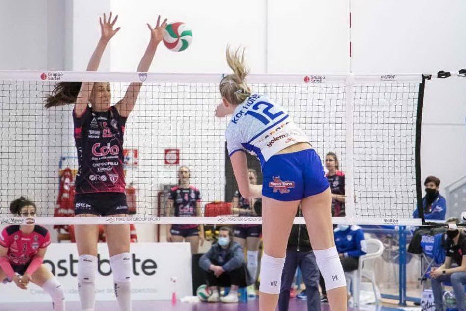 Volley, il Talmassons vince gara 1: Hermaea Olbia sconfitta 0-3