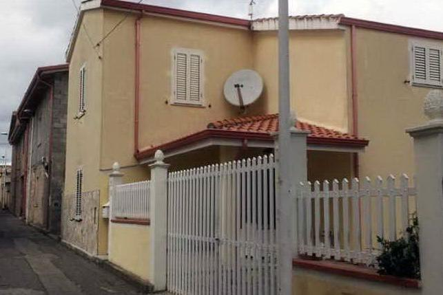La casa di Masullas, dove si è verificato il tentato furto