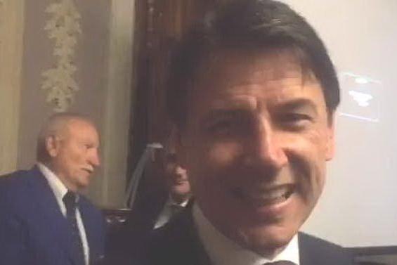 """""""Auguri per l'anniversario de L'Unione Sarda"""" da Giuseppe Conte"""