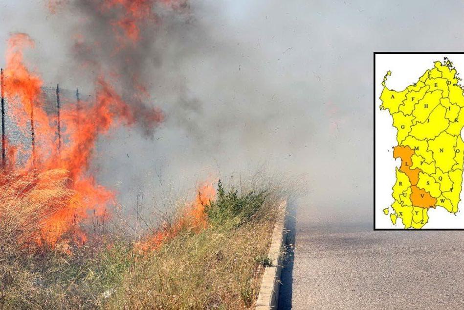 Allerta incendi in Sardegna: pericolo alto in alcune zone