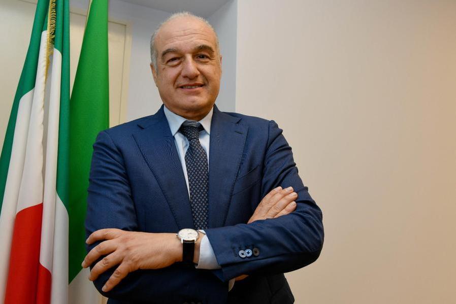 Enrico Michetti (foto Ansa)