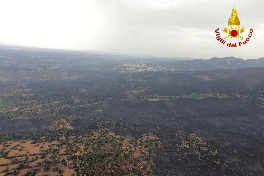 La Sardegna brucia ancora, in azione Canadair\u00A0(Ansa)