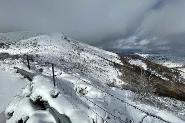 Neve a Fonni, la magia del paese imbiancato