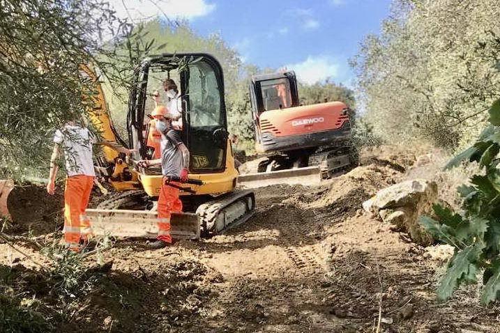 I lavori sul Monte Arci (Foto E.Sanna)