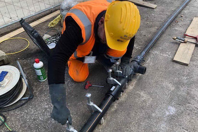 Lavori per la posa del metano (Ufficio Stampa Regione Sardegna)