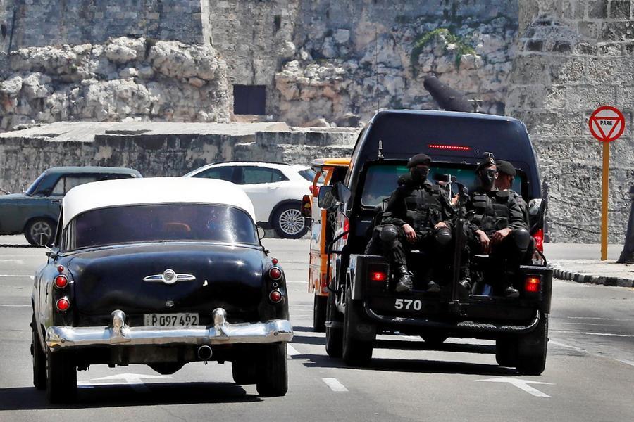 Proteste a Cuba (foto Ansa/Epa)