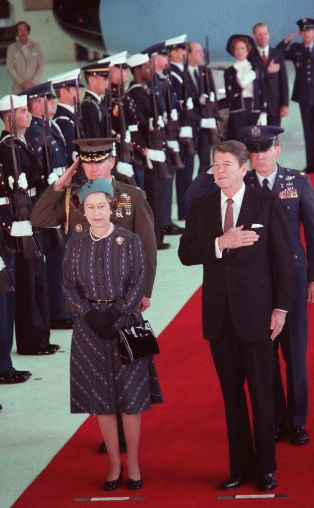 Con il presidente americano Ronald Reagan (foto Wikipedia)