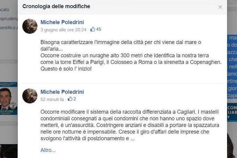 """Cagliari, la proposta del candidato leghista: """"Costruire un nuraghe alto 300 metri"""""""