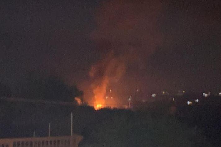 L'incendio a Sorso\u00A0(foto L'Unione Sarda -\u00A0Pala)