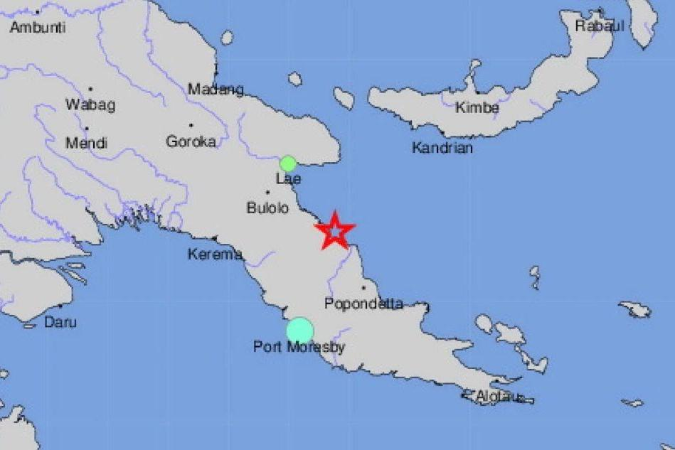 Terremoto a nordovest di Popondetta, rientrata l'allerta tsunami
