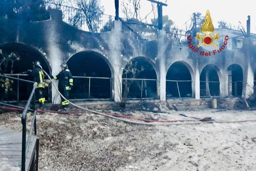 (foto Vigili del fuoco Cagliari)